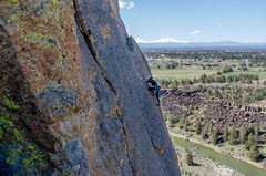 Rock Climbing Photo: The fourth pitch of Wherever I May Roam at Smith R...