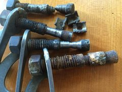 Rock Climbing Photo: Hardware removed from 'Laughing at the Moon', repl...