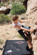 Rock Climbing Photo: Zoe G (age 14) on Tic Tac V1