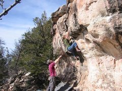 Rock Climbing Photo: Lori and The Pickpocket.  BVB Photo