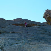 Rock Climbing Photo: Mike Arechiga on, Road To Zion. 5.10a