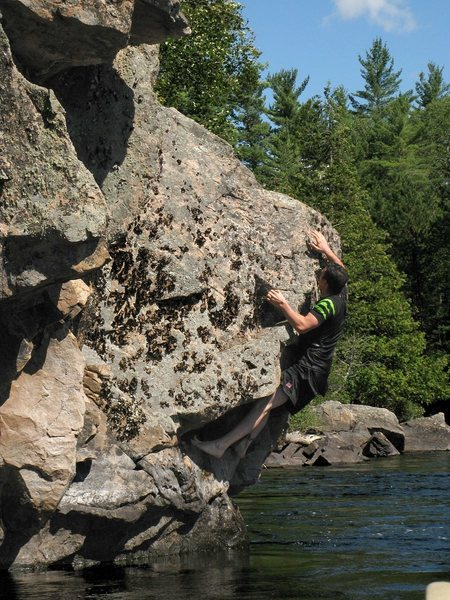 Depp Water bouldering while canoeing down the Dumoine