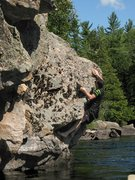 Rock Climbing Photo: Depp Water bouldering while canoeing down the Dumo...