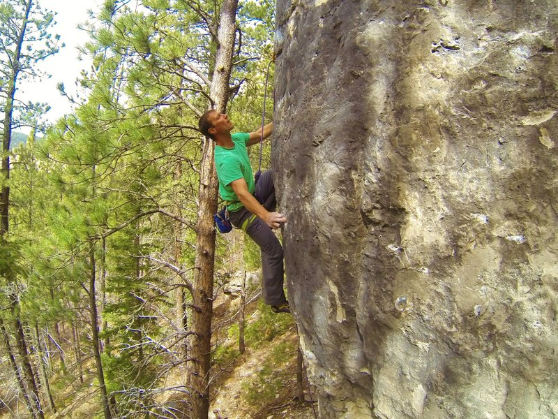 Carl sending Turkey Vulture, 5.12c