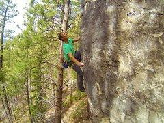Rock Climbing Photo: Carl sending Turkey Vulture, 5.12c