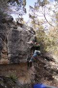 Rock Climbing Photo: JJ on the Hidden Wall.