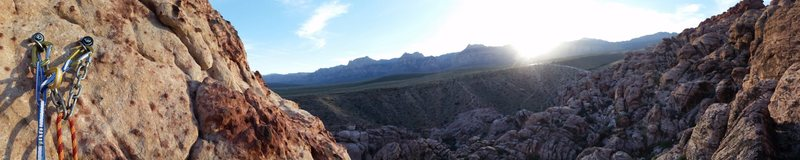 Rock Climbing Photo: Pano view from First pullout Civilization crag