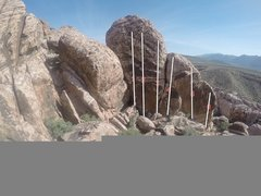 Rock Climbing Photo: first pullout civilization crag routes on the wall...