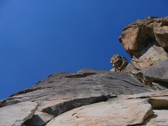 Rock Climbing Photo: First pitch of Intrepid Voyage. Road to Zion share...