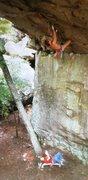 Rock Climbing Photo: Rob Robinson on Champagne Jam (5.12+), Sand Rock  ...