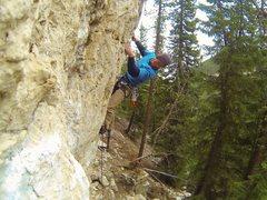 Rock Climbing Photo: Blonde rock. Blue balls.