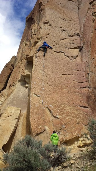 "Justin Hollenbeck on ""Reason to be."" Smith Rock, Oregon."