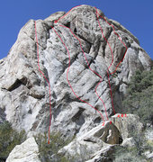 Rock Climbing Photo: Route topo for The Molar