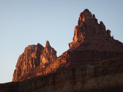 Rock Climbing Photo: Lone Rock at Sunset
