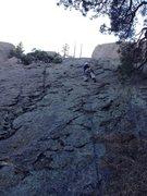 Rock Climbing Photo: Gino starting up the bottom section.