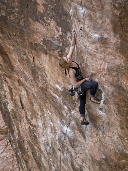 Rock Climbing Photo: Arika workin it!