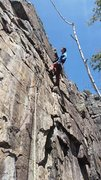 Rock Climbing Photo: Working my Jaw on 'Jawbone' (5.10), at The Waterfa...