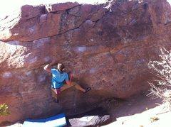 Rock Climbing Photo: Nick getting Gastoned.