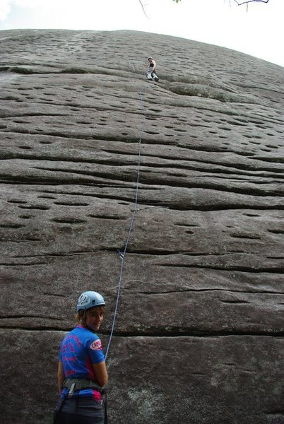 J-Sexy giving one sexy belay at Looking Glass Rock