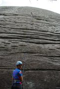 Rock Climbing Photo: J-Sexy giving one sexy belay at Looking Glass Rock