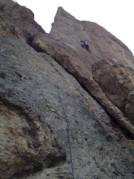 First Ascent of Pony Up.  Photo by Micah Klesick