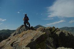 Rock Climbing Photo: A historic shot! Has to be 2010- top of Sinocraniu...