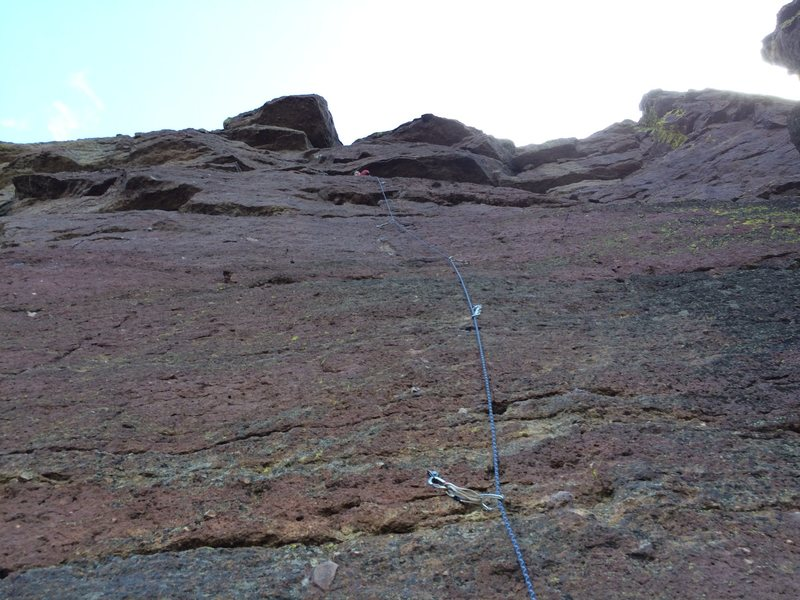 Rock Climbing Photo: After leading Watermark, we top roped Red Scare.