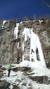 Ice climbing at Casket Quarry, Duluth
