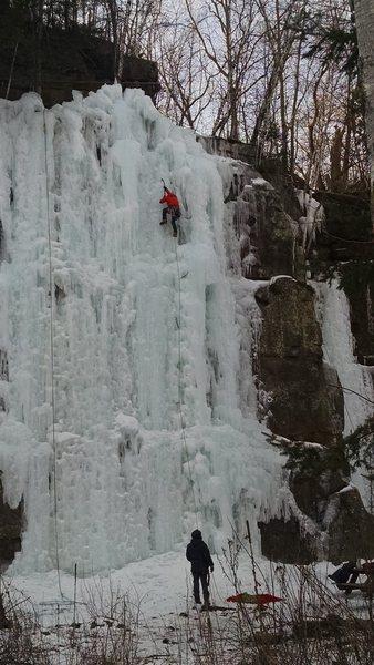 Rock Climbing Photo: Ice climbing at Sandstone, MN