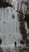 Ice climbing at Sandstone, MN