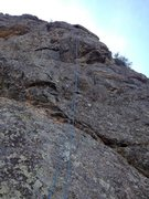 Rock Climbing Photo: Another picture of the second pitch.  The climbing...