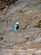 Rock Climbing Photo: Rose climbing the second half of the 2nd pitch. Yo...
