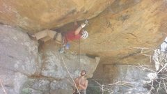 Rock Climbing Photo: Placing the five on Crouching Tiger.