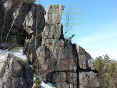 Rock Climbing Photo: Beta for the finish as requested : A-Both feet her...
