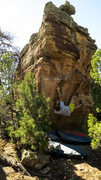 Rock Climbing Photo: Making the first move on Dreadnaoghtus.