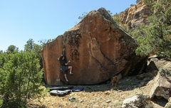Rock Climbing Photo: M. Lisenby making easy on a difficult problem.