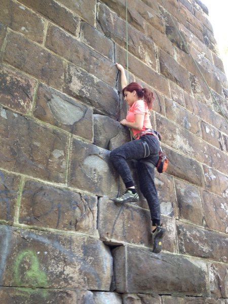 Rock Climbing Photo: Climb up the crack.