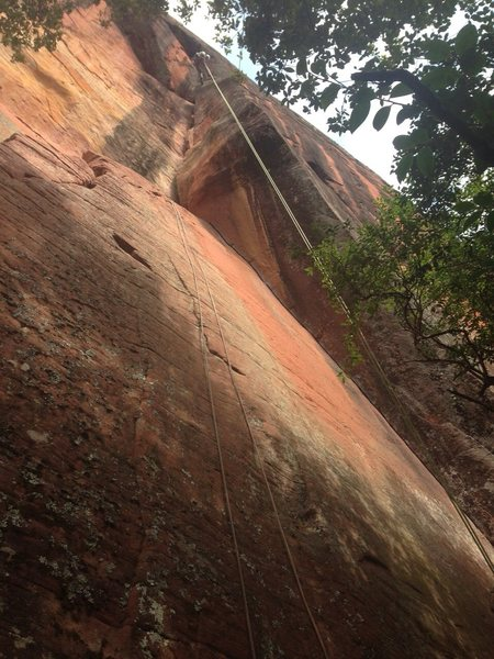 Rock Climbing Photo: Rapping the Faraway Corner-Screaming at the Moon L...