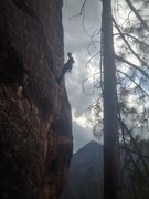 Rock Climbing Photo: At the chains of The Reckoning after a long sendin...