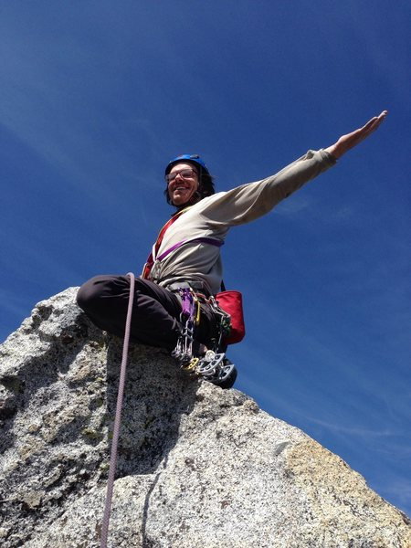 """Jared feeling """"inspired""""! Upper spire top out."""