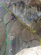 Rock Climbing Photo: At the middle of Olive there is a short offwidth s...