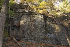 Rock Climbing Photo: finishing the crux moves