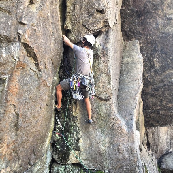 Rock Climbing Photo: Start of Popeye