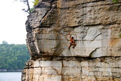 Rock Climbing Photo: working on DWS