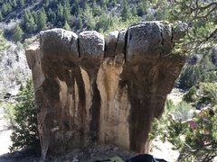 Rock Climbing Photo: Wave Boulder, Left v1, center Gods Hand v5, Right ...