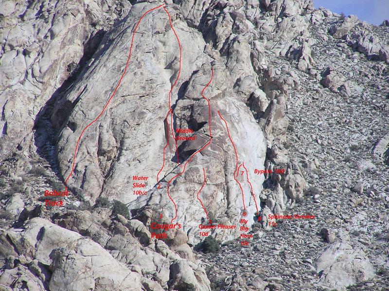 Rock Climbing Photo: Tear Drop Topo