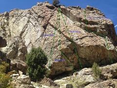 Rock Climbing Photo: Northwest face of Aqueduct