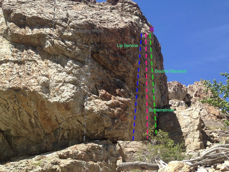 Rock Climbing Photo: East face of The Aqueduct.  Photo taken south from...