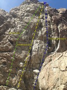 Rock Climbing Photo: East face of The Aqueduct.  Image of Lip Service, ...