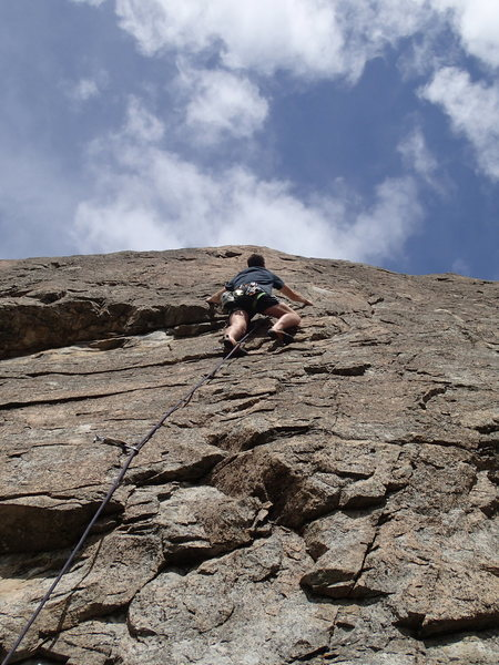 Rock Climbing Photo: Climber on Magic Theatre